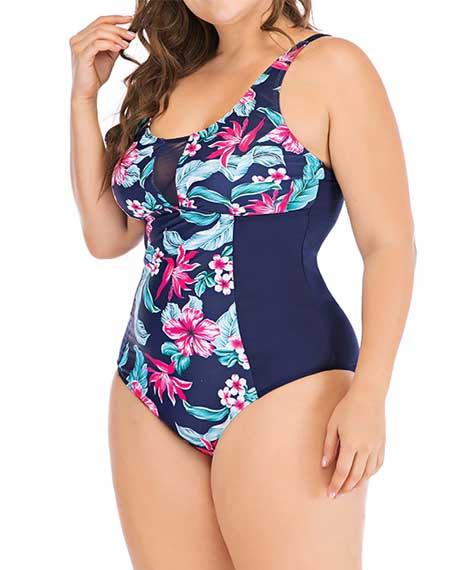 UK Women Plus Size Swimdress Two Piece Swimsuit Swimwear Backless Push Up Padded